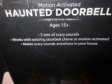 Haunted Doorbell Motion Activated Halloween Decoration Prop Door Bell Prank