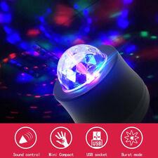 USB Car Truck Party Music Rhythm Disco DJ Stage Interior LED Light RGB Ball Lamp