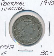 PORTUGAL 1 ESCUDO 1940 KM 597 - VF