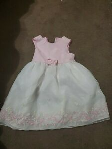 Sophie Rose Pink and White Easter Dress Size 4T