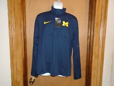 Michigan Wolverines Nike Navy Mens 1/4 Zip Pullover Shirt Large NWT