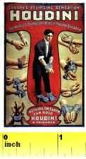 Miniature Houdini Magic Escapology  Sign  - Dollhouse 1:12 scale