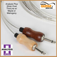 Analysis Plus 10ft SILVER Oval ThinLine Guitar Cable / MAPLE - Straight/Straight