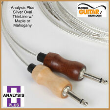 Analysis Plus 15ft SILVER Oval ThinLine Guitar Cable / MAHOG - Straight/Straight