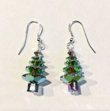 Christmas Tree Earrings made with Vitrail Medium Swarovski Crystals Jewelry, Ss