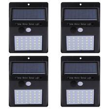 4x Außen Solarlampe mit Bewegungsmelder 30LED Solarleuchte Gartenlampe Wandlampe