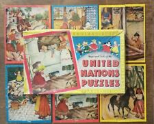 Leo Hart Co #501United Nations Puzzles Set(6) ©1944 France Mexico China Russia
