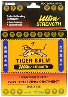Tiger Balm Ultra Strength Pain Relieving Ointment 50 gm - 1.7 OZ