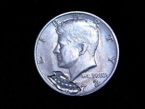 1972 Kennedy Half Dollar - Unique Mechanical Mint Error - RARE.   P202