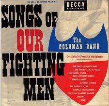 """GOLDMAN BAND! - """"SONGS OF OUR FIGHTING MEN"""" DECCA-91187 TWO EP SET VG+!!"""