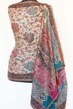 Genuine Hand-Cut Kani Wool Shawl Paisley Jamawar Finely Detailed Jamavar Floral