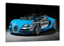 Bugatti Veyron Grand Sport Vitesse 30x20 Inch Canvas Art - Framed Picture Print
