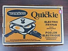 Vintage Toastess Quickie Compact Electric Frypan Fully Immersible In Box