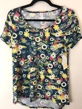 LuLaRoe XXS Blue Green Teal Daisy Print Classic T Floral NWT Spring Flowers Line