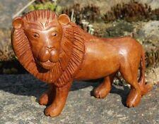 Schöner Löwe Holz Tier Lion Afrika Figur Kinder Spielzeug KTier43