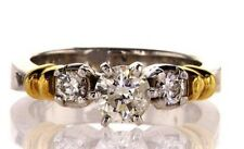 1 CT G Color I1 Clarity Natural Diamond Engagement Ring Round Cut Brilliant