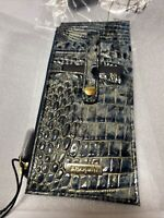 BRAHMIN GLACIER MELBOURNE Crocodile Card Tower Wallet Credit Card Holder