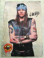 GUNS N ROSES - Axl Rose FLAG Heavy thrash death METAL cloth poster