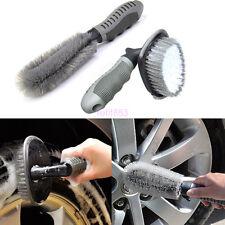 2x Professional Car Motorcycle Wheel Tire Rim Hub Clean Brush Wash Scrub Tools