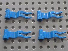 4 x Drapeau LEGO blue flag ref 4495 / Set 6081 6098 10176 6085 6091 6086 6046...