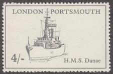 Gb Postal Strike Phillips #Pm14 Mnh 4sh London-Portsmouth Hms Danae Ship 1971