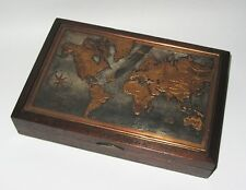 CAVE A CIGARES SIGNE M VINEL DECOR CARTE GEOGRAPHIQUE HUMIDOR