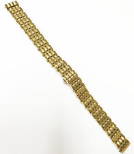 Citizen Brand New Gold Tone 13mm Side Button S. Steel Back Clasp Watch Band