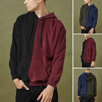 Mens Padded Wax Corduroy Collar Jacket Boy Long Sleeve Detachable Hood Coat LOT