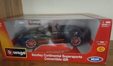 Bentley CONTINENTAL SUPERSPORT CONV ISR-Modello in scala 1/18 auto da burago nero