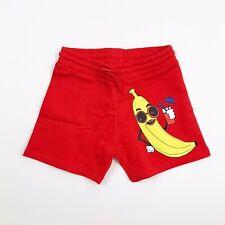 MINI RODINI Girls Size 5 Red Banana Sweat Shorts NWT