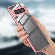 For Samaung Galaxy S10 S9 Plus S8 N9 S7 Clear Shockproof Metal Bumper Case Cover