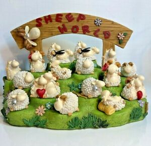 Sheep World P. Chiari Paolo Resin Collection 16 Figures Easter Decor