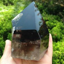 616g Natural clear quartz crystal point cut polished healing china  D890