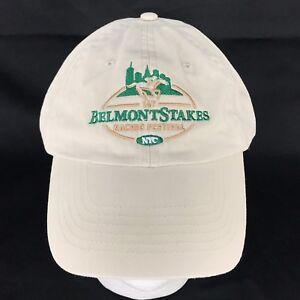 Belmont Stakes 2015 Cap Hat Adjustable Khaki Horse Racing NYC 100% Cotton
