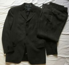 Tom English Mens Mid Grey Textured Wool Blend Suit 38R Jkt 32S Trousers