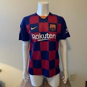 FC Barcelona 2019/20 Home Soccer Jersey Men's Size Small - La Liga