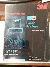 "3M Box Of 50 Sealed 8.5""x11"" CG 3305 Transparency Film Black Image (C1-1)"