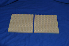 LEGO DUPLO 2 x plaque 8x8 64 d'tan beige zoo Bob Château Dino 5635 4864 51262