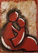 Acrylic ACEO painting/Mama's love/inspiration/#motherlove/Love/motherhood/family