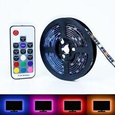 1M LED TV USB Backlight Kit Computer RGB LED Light Strips w/RF Remote Control