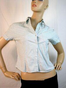 ben sherman camicia donna verde quadretti manica corta taglia 42