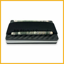 Men's Minimalist Carbon Fiber Wallet Card Holder With Money Strap