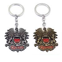 Queen Classic Rock Band Freddie Mercury Metal Pendant Keychain Key Ring Fans