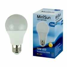 MiniSun High Power 10w LED ES E27 SMD Thermal Plastic Frosted GLS Energy Saving