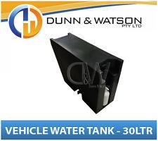 Vehicle Water Storage Tank, Pump Bottle (30Ltr) Black PVC Ute Tray Truck Trailer