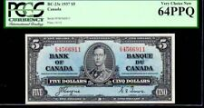 "CANADA BC-23c $5 1937 PCGS 64PPQ ""KING GEORGE VI"" Bank of Canada"