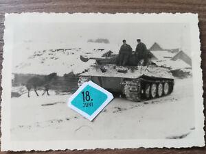 Orig.Foto Tiger I Panzer Befehlstiger SELTEN mit Sternantenne 1943