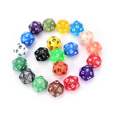 1PC D20 gaming dice twenty sided die number 1-20 for RPG game *