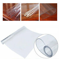 Transparent 1.5mm Plastic Clear Table Cover Cloth Roll Wedding Catering Events