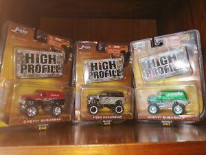 Jada Toys High Profile Jeep 1/64 scale 2006 Set of 3 Bundle Unopened